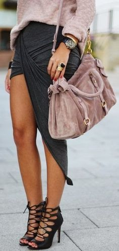 Gorgeous Outfit in Pink + Grey