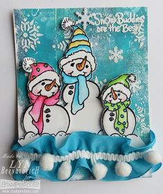 #Cre8time for snow friends. Wanna build a snowman? #Stampendous #DWStencils