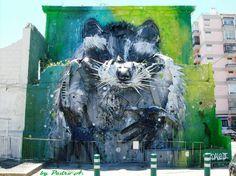 Street art by Artur Bordalo in Portugal