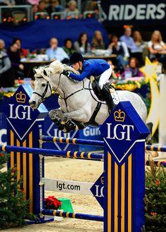 Judy-Ann Melchior aboard Levisto Z || equestrian show jumping / grey jumper