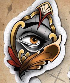 Chest Tattoo Sketches, Tattoo Drawings, Art Drawings, Desenho New School, Neo Tradicional Tattoo, Neo Tattoo, Traditional Tattoo Design, Traditional Flash, Japanese Tattoo Art