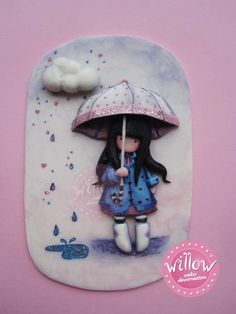 Gorjuss, fondant cake decortaion - by WillowCake @ CakesDecor.com - cake decorating website inspired by artists suzanne woolcott