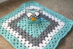 Owl security blanket. Owl Lovey blanket. by TracyplusCrochet, $18.50