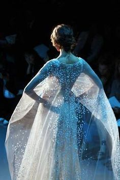 Ethereal. This is like Elsa's dress from Frozen :D