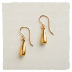 A Drop of Gold Earrings in Holiday 2012 from Arhaus Jewels on shop.CatalogSpree.com, my personal digital mall.