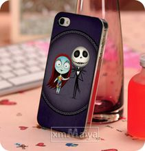 New Design Fashion The Nightmare Before Christmas Skull Case For Iphone 4 Hard Plastic Protective Back Cases