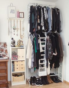 love the clothes rack, not really the rest of the room