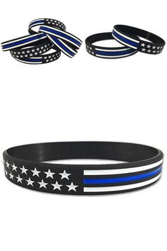 Apparel Sewing & Fabric Blue Police Lives Matter Thin Blue Line Paracord Bracelet Usa America Flag Support Lives Police Matter Survival Bangle Bracelet Street Price Home & Garden