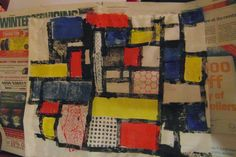 Moving onto fabric!! Mondrian inspired object printing