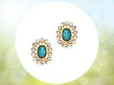 #bluecrystalstud #crystalearrings #fashionaccessories