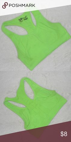 c1748aba08cb8 Neon Green Sports Bra Neon green sports bra. Lightly worn