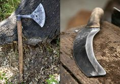 Tools used for the removal of bark that is used to make cork!