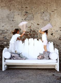 pillow fight- when was the last time you did this? It makes me want to grab a pillow a smack someone right now ; Beautiful Family, Family Love, Bff, Pillow Fight, Pillow Talk, Great Friends, Happy Friends, Kids Corner, Coastal Style