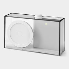 Flow Radio and Speaker by Philip Wong. Portable radio/MP3 player with transparent casing, from the MOMA store. $85
