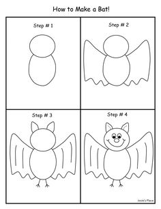 How to draw a bat! Art Drawings For Kids, Drawing For Kids, Easy Drawings, Art For Kids, Halloween Crafts For Kids, Halloween Art, Drawing Lessons, Art Lessons, Draw A Bat