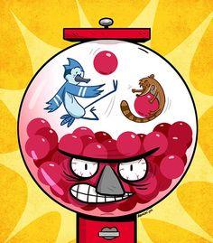 """""""Regular Show - Gumball"""" Stickers by Benson Regular Show, Rigby Regular Show, Tv Covers, Watch Cartoons, World Of Gumball, Star Lord, Fun Comics, Steven Universe, Cartoon Network"""