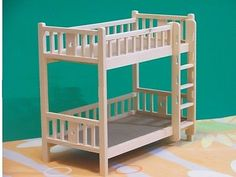Doll Furniture Unpainted Bunk Beds~1/6 Scale Barbie Blythe