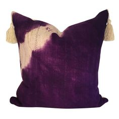 Ombre Mud Cloth Pillow, Authentic Mud cloth Pillow, Purple African Fabric Pillow, Ethnic Fabric Pillow, African Decor