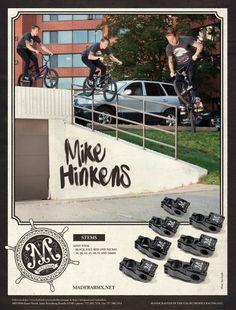 Mike Hinkens for Madera BMX by Adi Gilbert / 99seconds.com Scrambler, Bmx, Graphics, Black, Graphic Design, Black People, Printmaking, Bicycles
