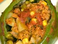Stuffed Green Bell Peppers- delicious and filling! As always, crock to your taste