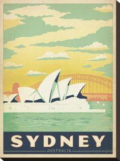 Sydney, Austrália Impressão em tela esticada