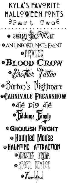 Funky Polkadot Giraffe: Kyla's Favorite Free #Halloween Fonts: {Part Two} by Briann    #freefonts