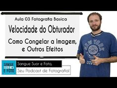 Aula Fotografia Basica 03 - Velocidade do obturador, como congelar a imagem e outros efeitos - YouTube Portrait Photo, Foto E Video, Baseball Cards, Retro, Youtube, Photography, Shutter Speed, Photography Hacks, Beginner Photography