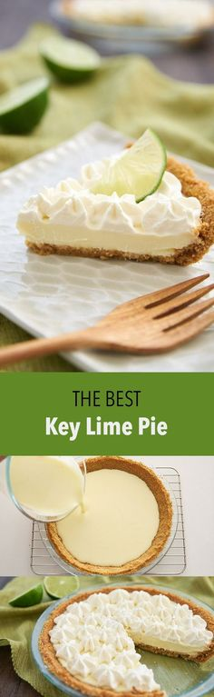 This is the best Key Lime Pie, and the 3 ingredient filling doesn't need to be baked thanks to a neat trick.