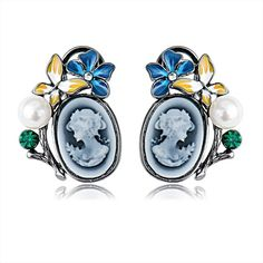 #cerceinegrii #cerceivintage Enamel, Brooch, Retro, Chic, Blue, Accessories, Vintage, Jewelry, Fashion