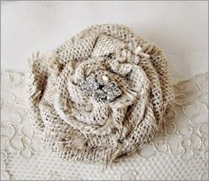 burlap rose, yes!