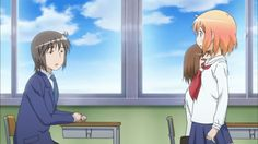 However, the day when she is transfered to other school, she meets one guy: Manabe, this encounter is her turning point in her life. Manabe is very kind and worried about Kotoura-san because she will not communicate with classmates, saying what they are thinking by reading their minds. But, for Manabe, it is not important that Kotoura-san has a strange ability to read people's minds. He truely wants to get along with her.