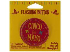 cinco de mayo flashing button, 144 - cinco de mayo flashing button. Weight: 1.5/unit