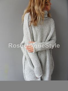 Oversized Chunky knit woman sweater. от RoseUniqueStyle на Etsy