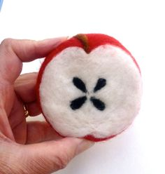 Felted Soap Red Delicious Apple Shea Butter Spring by Engelfelt, $13.00