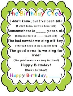 LOVE these bday ideas! The 2 Teaching Divas: Happy Birthday! Kindergarten Songs, Preschool Songs, Kindergarten Classroom, Music Classroom, Classroom Cheers, Teach Preschool, Classroom Teacher, Music Activities, Kids Songs