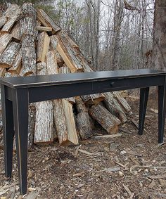 Another great find on #zulily! Midnight Black Modern Shaker Sofa Table by Fable Porch #zulilyfinds