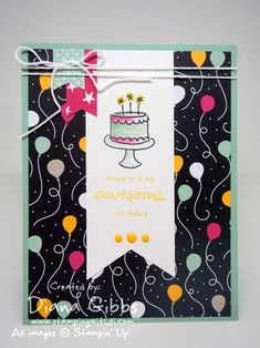 It's My Party Diana Gibbs Stampin' Up! Judy May case - SU - Endless Birthday, It's My Party dsp stack