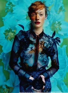 """The Terrier and Lobster: """"Floral Fantasy"""": Chanel Stafford Abbott by Leda & St. Jacques for Elle Canada"""