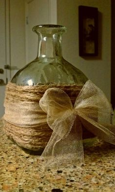 recycled glass gift bottle with wrapping