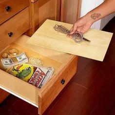 Escondites secretos para objetos de valor