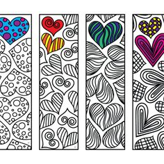 Grands signets imprimables Zentangle - Page Web 5 - Scribble & Sew - Hearts, Love, R . - Emoji Coloring Pages - Heart Coloring Pages, Valentine Coloring Pages, Coloring Pages To Print, Printable Coloring Pages, Colouring Pages, Free Coloring, Adult Coloring Pages, Coloring Books, Diy Crafts For Kids