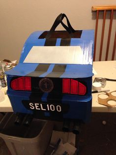 Cardboard Mustang Car Halloween Costume