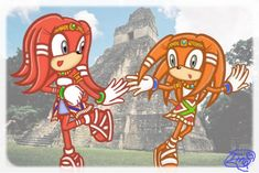 Sisters-Tina and Tikal by on DeviantArt