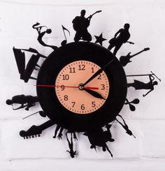 Laser Cut Vinyl Record Clock