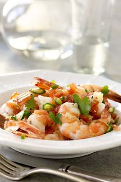 Green Chili Shrimp - recipe from The Dukan Diet Cookbook