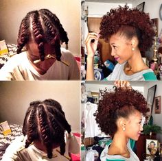 check out my twistout frohawk on YouTube.com/modelesquenic