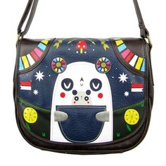Loungefly Panda-Roo Crossbody Bag Handbag Faux Leather Punk Cute Kawaii