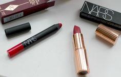 High end lipsticks worth having - Nars Velvet Matte Pencil Dragon Girl, Charlotte Tilbury, Matte Revolution, Amazing Grace, swatches