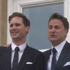 Xavier Bettel, Luxembourg's PM with his husband.