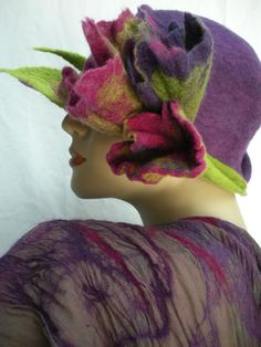 Lovely Felt Hat by Els Martens (also she is lovely and inspiring too!)  #Felt # Hat